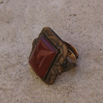 Art deco Egyptian ring - Fine Jewelry