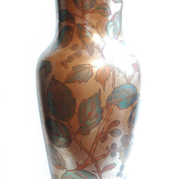 art nouveau pottery vase by BOCH FRERES KERAMIS , belgium - Art Nouveau
