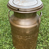 """James Canyon Ranch Genoa, Nevada copper coated milk can 19"""" tall"""