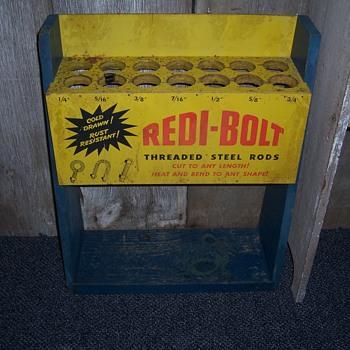 vintage Redi-Bolt store display rack---harmless repurpose - Advertising