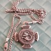 Hanussen Dracomagnet West Germany 800 silver Mystic Charm Pendant on 925 Silver chain !!!