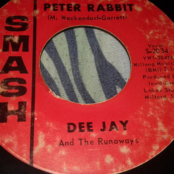"DEE JAY And The Runaways SMASH RECORDS 45 RPM ""PETER RABBIT"" / ""ARE YOU READY"" [S-2034] - Records"