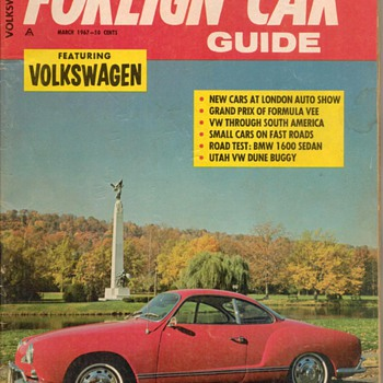 1967 - Foreign Car Guide Magazine