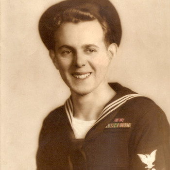 WWII Navy, Rank is Petty Officer 3rd Class - Machinist Mate  - Photographs