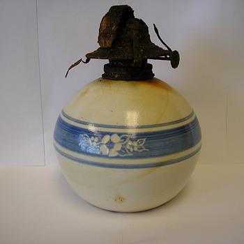 Salt Glazed oil lamp