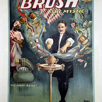 "Original Brush ""The Hindu Basket"" Stone Lithograph Poster"