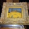 Lovely framed pastel painting of a Country house