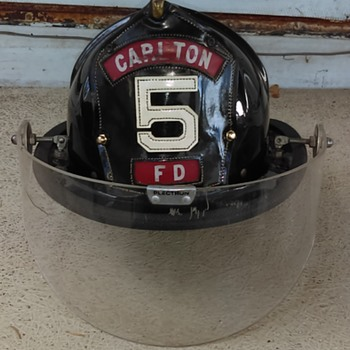 Fire Helmet Find at an  antique store - Firefighting
