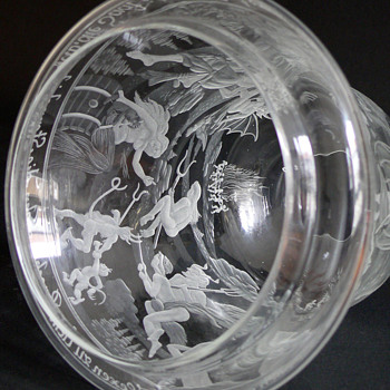 wheel engraved glass from my home area - Art Glass
