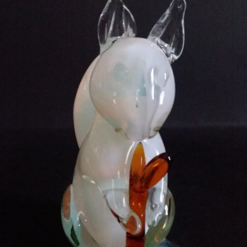 Blown glass squirrel figurine - Animals