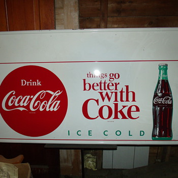 Coke sign in my Barn - Signs