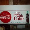 Coke sign in my Barn