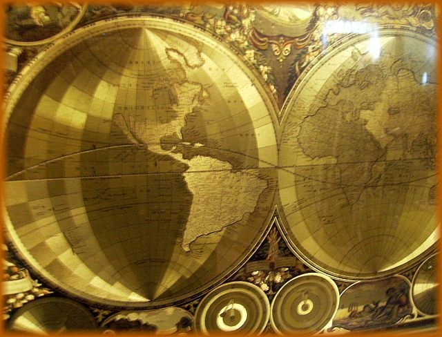 Vintage world gold etched foil map aka planisphaerium terrestre vintage world gold etched foil map aka planisphaerium terrestre cum utroque collectors weekly gumiabroncs