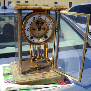 Full view of said mantel clock - Clocks