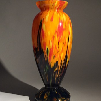 Czech Bohemian Vase - Art Glass