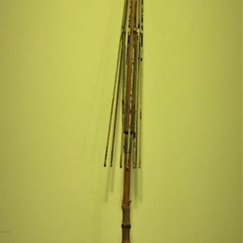 Antique  bamboo Cane Umbrella Pat. Apr. 10, 88 on guide lock - Accessories