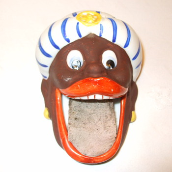 Black GENIE Rare Vintage Porcelain STAMP MOISTENER - Office