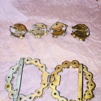 Antique Art Deco Belt Buckle and Sash  - Art Deco