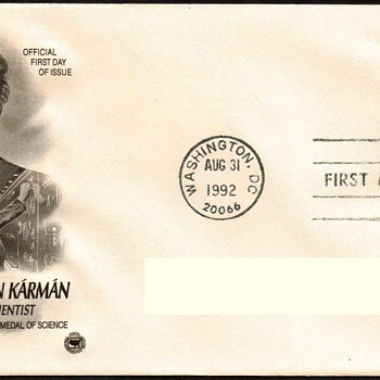 "1992 - ""Theodore v. Karman"" Stamp First Day Cover - Stamps"