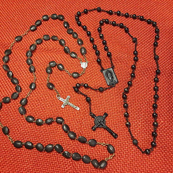 two black colored rosaries - Fine Jewelry