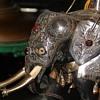 Kandy, Sri Lankan Sterling w/ Gems & Ivory Elephant