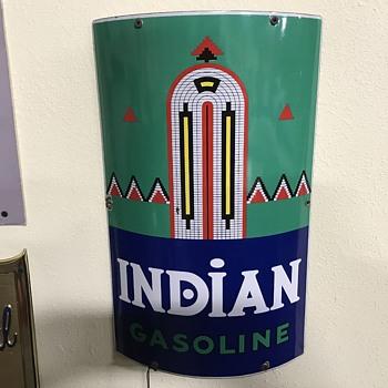 Indian gasoline pump plate  - Petroliana