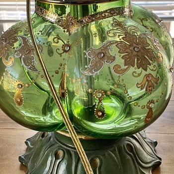 Beautiful Green Glass Lamp - Lamps