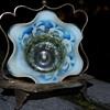 JOHN WALSH SWEETMEAT OPALESCENT GLASS BOWL & HOLDER