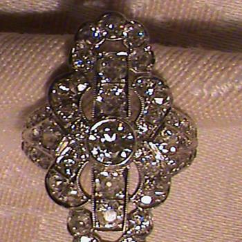 Gorgeous Art Deco Platinum Diamond Cocktail Ring