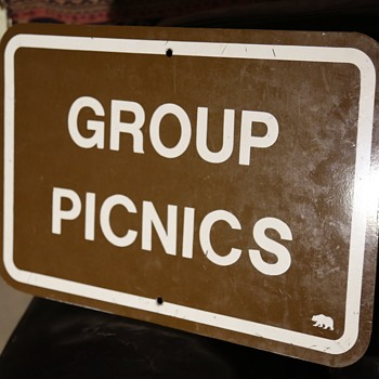 Group Picnics - California State Parks Sign - Signs