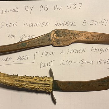 Recovered during WW2- From Noumea Harbor, from a French Frigate Sail Ship By C.B.M.U. 537 In 1944 - Military and Wartime