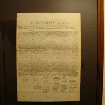 """Vintage"" Copy of~  "" The Declaration of Independence """