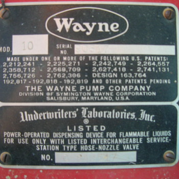 Old Wayne gas pump - Petroliana