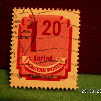 Vintage Magyar Posta 1 20 Stamp ~ Used