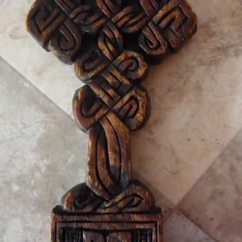 Little Wooden Cross - Folk Art
