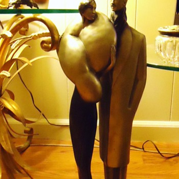 Art Deco  La Clere statue, 23 inches tall, weighs 16 pounds - Art Deco