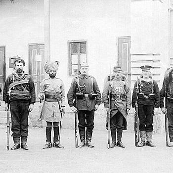 Boxer Rebellion Allied Group Photograph - Military and Wartime