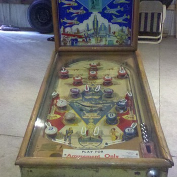 "1943 Gottilieb ""Keep E'm Flying"" Pinball Machine - Coin Operated"