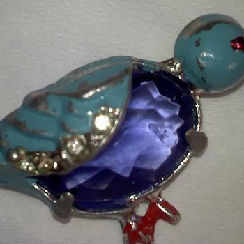 Blue bird - Costume Jewelry
