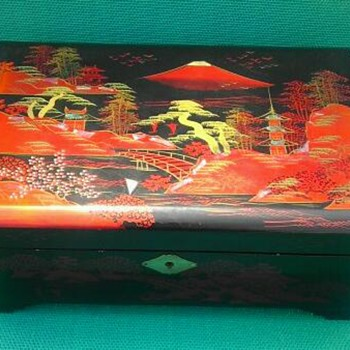 Vintage Japanese jewelry music box by Mele - Asian