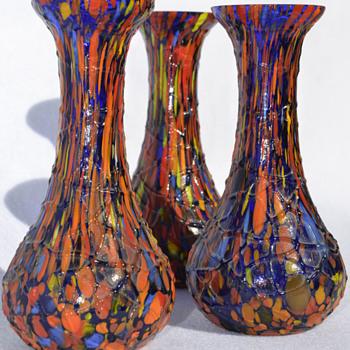 KRALIK small bud vases - Art Glass