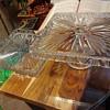 Square Crystal Cake stand & Yray