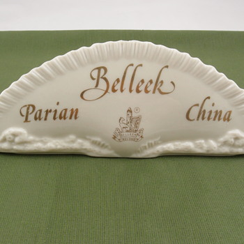 Belleek Parian China plaque - 7th mark - Pottery