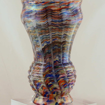 One of the Most Colorful Vases I Have Ever Purchased  - Unknown Maker - Art Glass