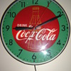 """1957"" Pam green& red bottle clock!"