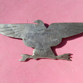Korean War Trench Art - 1951 USS Princeton War Eagle Pin - Military and Wartime