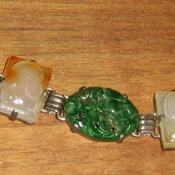 carved agates and other stones - Costume Jewelry