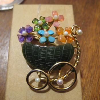 SWOBADA Basket of Flowers - Fine Jewelry