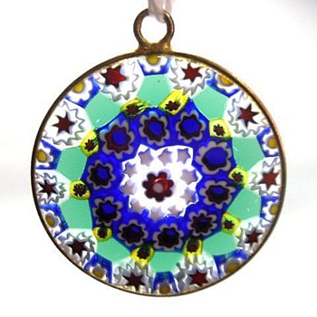 Pendant - Murano Millefiori  - Art Glass