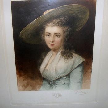Wilhelm Unger Artist 1837-1932 signed print